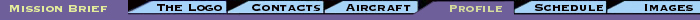 menu bar: logo - contacts - aircraft - *profile - schedule - updates