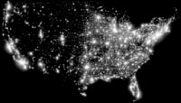 USA by night