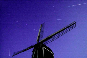 meteors and windmill